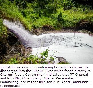 Toxic Wastewater from Industries in Indonesia