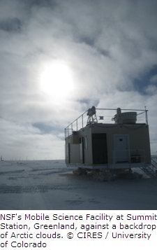 NSF's Mobile Science Facility at Summit Station, Greenland