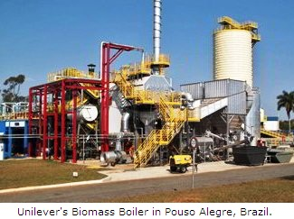 Unilever's Biomass Boiler in Pouso Alegre, Brazil