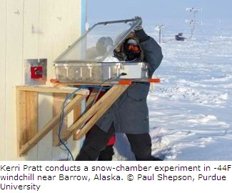 Snow Chamber Experiment in Barrow, Alaska