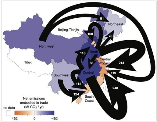 Outsourcing CO2 within China
