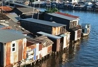 Shantytown on Saigon River