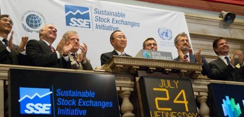 Ban Ki-moon at NYSE