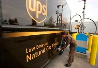 UPS Low Emission Natural Gas Vehicle