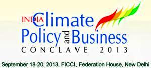 Logo India Climate Policy and Business Conclave 2013