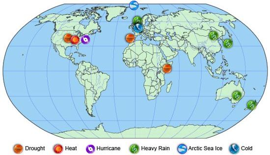 Extreme Weather Events in 2012