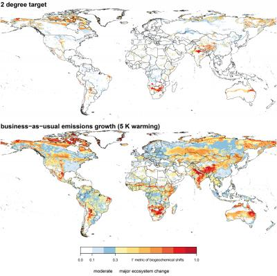 Land Ecosystem Changes under Global Warming
