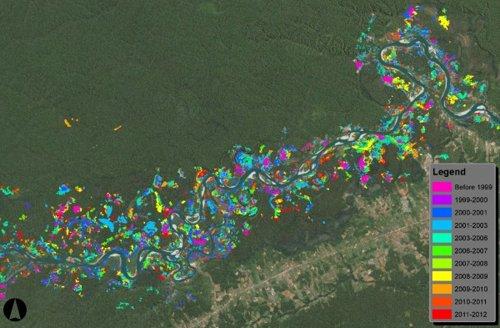 CLASlite Map Shows Gold Mines in Peru