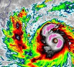 Typhoon Haiyan 2013 Landfall Loop on November 7, 2013. © Wikimedia Commons / University of   Wisconsin Cooperative Institute for Meteorological Satellite Studies