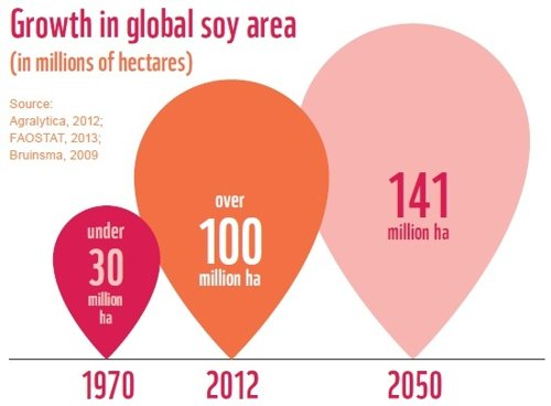 Growth of Global Soy Area