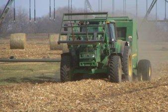 Baling Corn Residue
