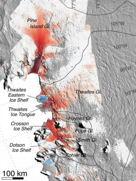 Glaciers in West Antarctica