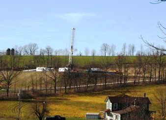 Hydrofracking Drilling Rig in Pennsylvania, U.S.