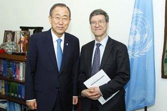 Ban Ki-moon and Jeffrey Sachs