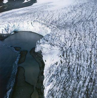 Glacier Border in Antarctica