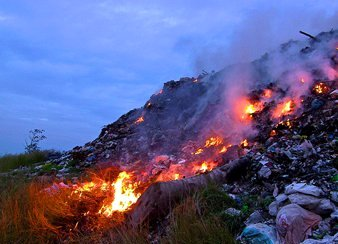 Burning of Trash in Philippines