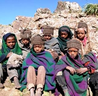 Children in Simien National Park, Ethiopia
